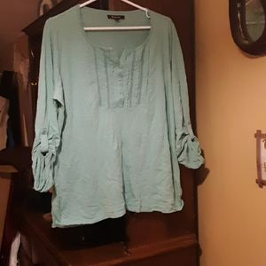 Relativity Teal Casual Blouse